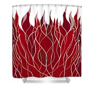 Psychedelic flames Shower Curtain by Frank Tschakert