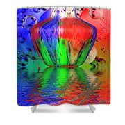 Psychedelic Flight Shower Curtain
