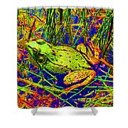 Psychedelic Frog  Shower Curtain