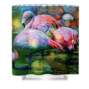 Psychedelic Ibis Shower Curtain