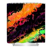 Psychedelic J Shower Curtain