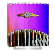 Psychedelic Morgan 4/4 Badge And Radiator Shower Curtain