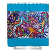 Psychedelic Paisley Shower Curtain