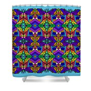 Psychedelic Pattern Blue Shower Curtain