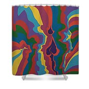 Psychedelic Skull Shower Curtain