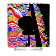 Psychedelic Sky Shower Curtain