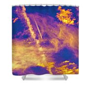 Psychedelic Skys Shower Curtain