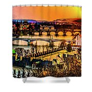 Psychedelic Sunset Art Shower Curtain