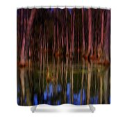 Psychedelic Swamp Trees Shower Curtain