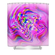 Psychedelic Swirls On Lollypop Pink Shower Curtain