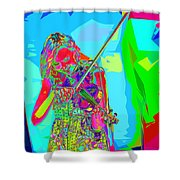 Psychedelic Violinist Shower Curtain