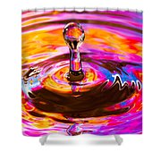 Psychedelic Water Drop Shower Curtain