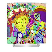 Psychedellic Pinch Shower Curtain