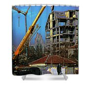 Psycho Plovdiv Crane Shower Curtain