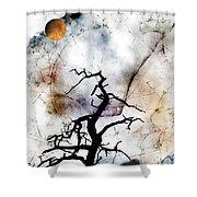 Psychotropic Moon Shower Curtain