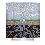 Psycodelic Tree Shower Curtain