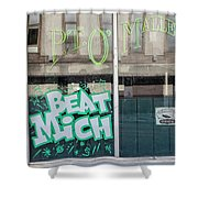 Pt O'maleys Beat Mich Shower Curtain