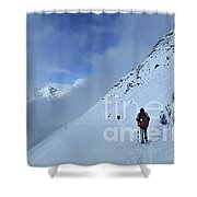 Ptarmigan Pass North - Glacier National Park Shower Curtain