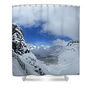 Ptarmigan Pass Tunnel North - Glacier National Park Shower Curtain