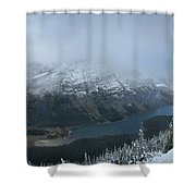 Ptarmigan Trail Overlooking Elizabeth Lake 3 - Glacier National Park Shower Curtain