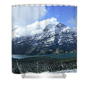 Ptarmigan Trail Overlooking Elizabeth Lake 5 - Glacier National Park Shower Curtain