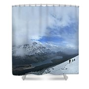 Ptarmigan Trail Overlooking Elizabeth Lake - Glacier National Park Shower Curtain