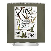 Pterosaur Reptiles Shower Curtain