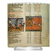 Ptolemy: Almagest, 1490 Shower Curtain