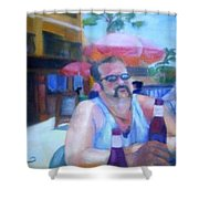 Pub Shower Curtain by Sheila Mashaw