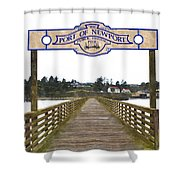 Public Fishing Pier Shower Curtain
