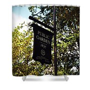 Public Garden 1837 Boston Shower Curtain