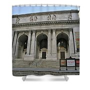 Public Library New York City Shower Curtain