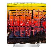 Public Market Mosaic 1 Shower Curtain