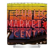 Public Market Mosaic 2 Shower Curtain