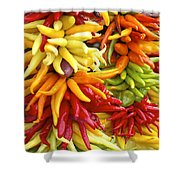 Public Market Peppers Shower Curtain