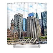 Public Park In The Heart Of Toronto Shower Curtain