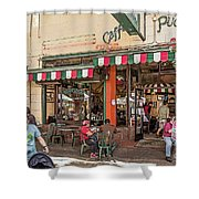 Puccini Shower Curtain by Kate Brown