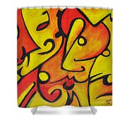 Pucker Up Shower Curtain