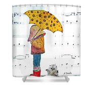 Puddle Hop Shower Curtain