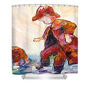 Puddle Jumpers Shower Curtain