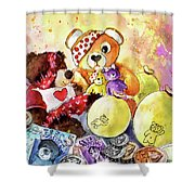 Pudsey And Truffle Mcfurry For Children In Need Shower Curtain