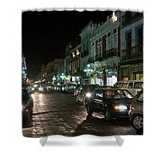 Puebla At Night 1 Shower Curtain