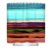 Pueblo 2- Art By Linda Woods Shower Curtain