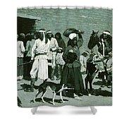 Pueblo Indian Village Shower Curtain