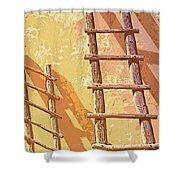 Pueblo Ladders Shower Curtain
