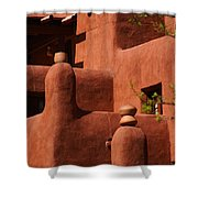 Pueblo Revival Style Architecture II Shower Curtain