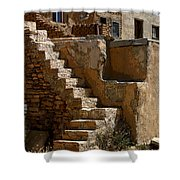 Pueblo Stairway Shower Curtain