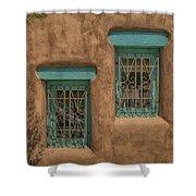 Pueblo Windows Nm Horizontal Img_8336 Shower Curtain