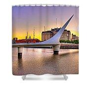Puente La Mujer Shower Curtain
