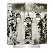 Puente Nuevo Tajo De Ronda Andalucia Spain Europe Shower Curtain